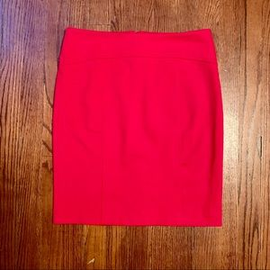 Micheal Kors bright red skirt gold zipper 4